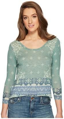 Lucky Brand Rug Print Tee Women's T Shirt