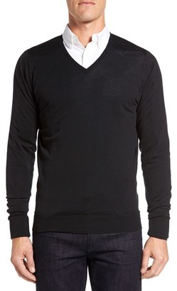 Men's John Smedley 'Bobby' Easy Fit V Neck Wool Sweater $285 thestylecure.com