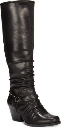 Bare Traps Baretraps Roz Wide-Calf Block-Heel Boots, Created for Macy's Women's Shoes