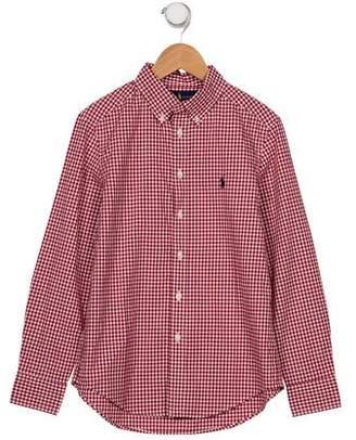 Ralph Lauren Boys' Gingham Dress Shirt