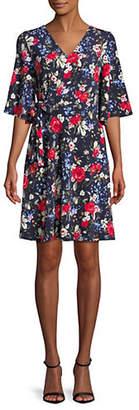 Dex Faux Wrap Floral Print Dress
