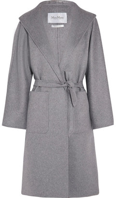 Max Mara - Lilia Belted Cashmere Coat - Gray $5,090 thestylecure.com