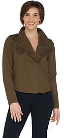 Laurie Felt Twill Military Asymmetric ZipJacket