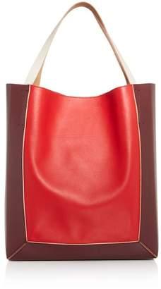Marni Color-Block Leather Soft Tote