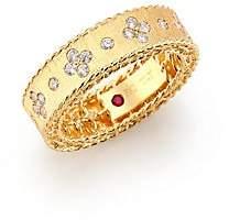Roberto Coin Women's Princess Diamond & 18K Yellow Gold Band Ring