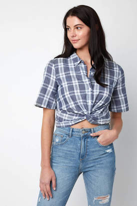 BCBGeneration Knot Front Button Down