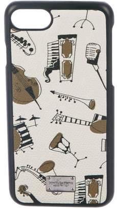 Dolce & Gabbana Jazz Instruments Print iPhone Case
