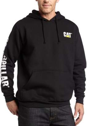 Caterpillar Big and Tall Men's Trademark Banner Hooded Sweatshirt
