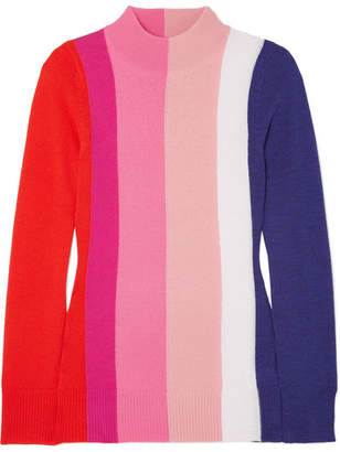 Paper London Dolly Striped Wool Sweater - Pink