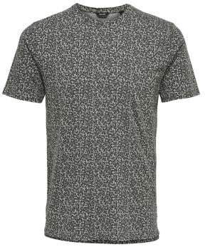 ONLY & SONS Ditsy Print Washed Cotton Tee