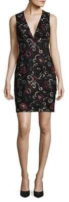 Aidan Mattox Embroidered Sheath Dress