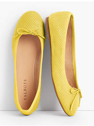 Talbots Penelope Herringbone Ballet Flats