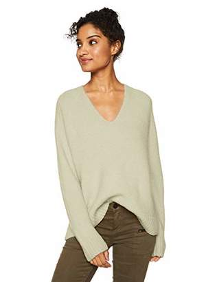 Cable Stitch Women's V-Neck Cozy Sweater