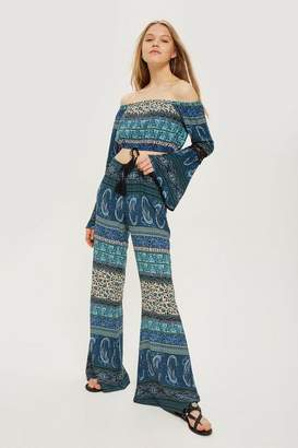 Band of Gypsies Printed Flared Trousers