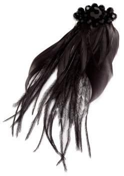 Simone Rocha Crystal Embellished Feather Hair Clip - Womens - Black