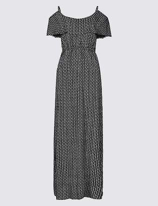 Marks and Spencer Geometric Print Cold Shoulder Beach Dress