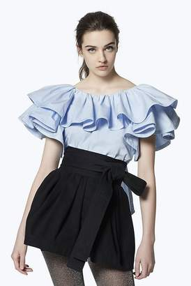 Marc Jacobs Ruffled Cotton Blouse