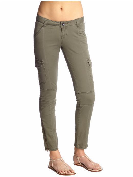 Kensie Twill Cargo Skinny Pant