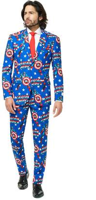 DAY Birger et Mikkelsen Opposuits Men's OppoSuits Slim-Fit Captain America Suit & Tie Set