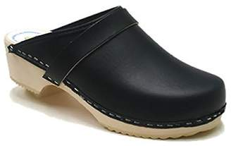 World of Clogs.com AM-Toffeln 100 Wooden Clog in leather - Size 43