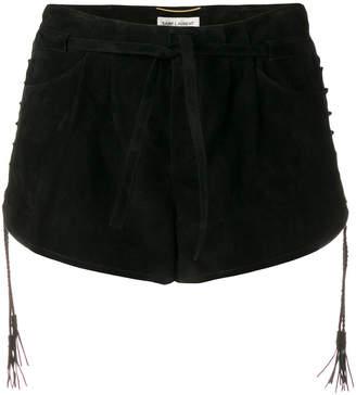 Saint Laurent drawsting fastened shorts