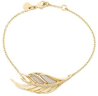 Shaun Leane White Feather 18kt gold diamond bracelet