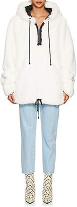 BIANNUAL Women's Faux-Fur Oversized Quarter-Zip Jacket - White