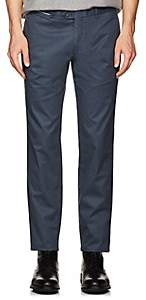 Hiltl Men's Cotton Modern-Fit Trousers - Blue Size 42