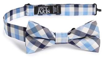 Nordstrom Window Plaid Silk Bow Tie