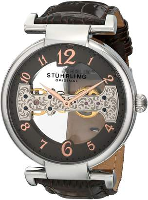 Stuhrling Original Men's 667.02 Legacy Analog Display Mechanical Hand Wind Brown Watch