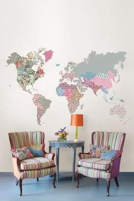 Brewster Home Fashions Boho World Map Giant Wall Art Kit