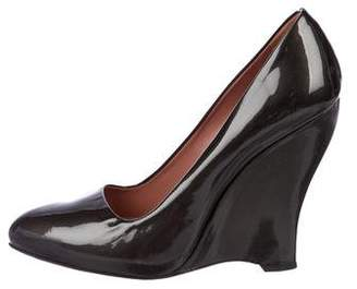 Alaia Patent Leather Pointed-Toe Pumps