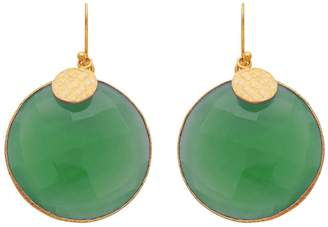 Carousel Jewels - Green Onyx Disc Earrings