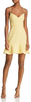 LIKELY Lillie Flounced Bustier Mini Dress