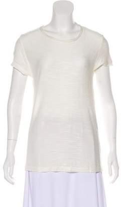 Anine Bing Textured Short Sleeve Top