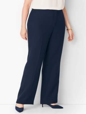 Talbots Plus Size Seasonless Crepe Wide-Leg Pants - Curvy Fit