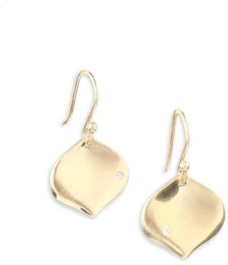 Annette Ferdinandsen 14K Yellow Gold and Diamond Rose Petal Earrings