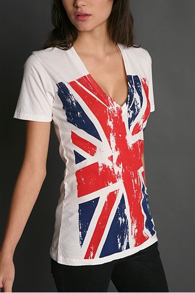 Truly Madly Deeply Flags V Neck Tee