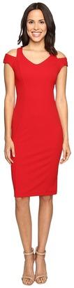 Christin Michaels Daisy Cold Shoulder Dress $84 thestylecure.com