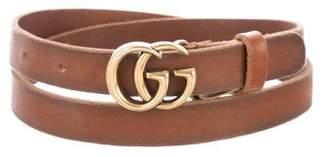 Gucci Interlocking GG Skinny Leather Belt