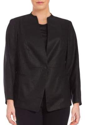 Lafayette 148 New York Plus Max Linen Jacket