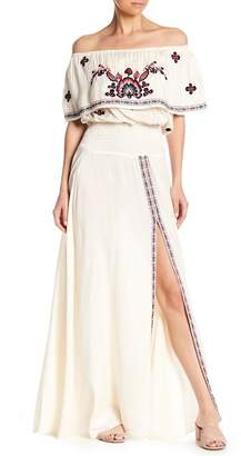 Raga Tessi Off-the-Shoulder Embroidered Maxi Dress