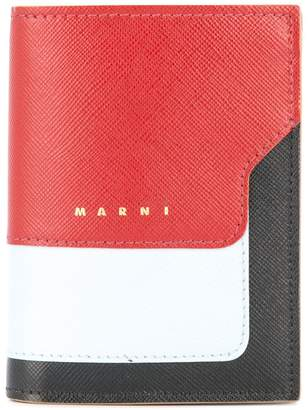 Marni colour block bifold wallet