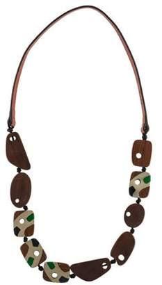 Marni Wood Collar Necklace