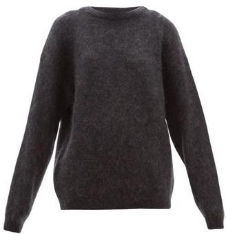 Acne Studios Dramatic Boat Neck Sweater - Womens - Dark Grey