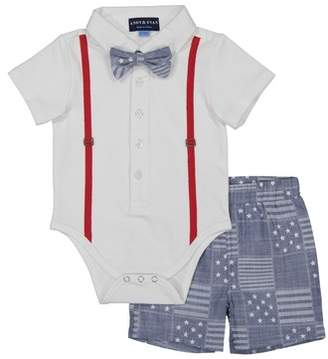 Andy & Evan All-American Polo, Bow Tie & Shorts Set