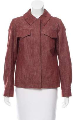 Marc Jacobs Pleat-Accented Snap-Up Jacket