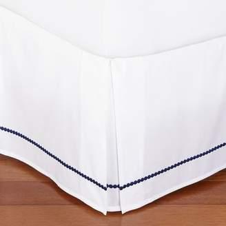 Pottery Barn Teen Pop Dot Bed Skirt, Twin/Twin XL, Royal Navy