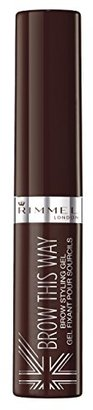 Rimmel Brow This Way Lightweight Gel, Dark Brown, 0.170 Fluid Ounce $5.99 thestylecure.com