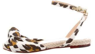 Charlotte Olympia Printed Canvas Espadrilles
